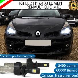 KitFull LED H1 Anabbaglianti 6400 LUMENRENAULT CLIO III CON FARO LENTICOLARE