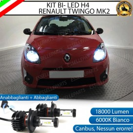 KitFull LED H4 18000 LUMEN Anabbaglianti/Abbaglianti perRENAULT TWINGO II