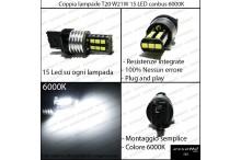 Luci Retromarcia 15 LED T20 FR-V