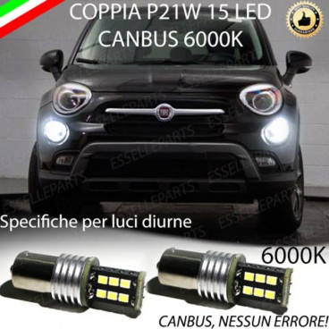 Luci Posizione 15 LED BA15S P21W FIAT 500X DRL