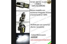 Luci Posizione DIURNE 15 LED BA15S P21W SKODA SUPERB DRL