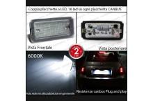 Placchette a LED Complete FIAT 500 TARGA