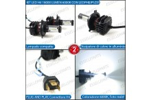Kit Full LED H4 coppia lampade ANABBAGLIANTI/ABBAGLIANTI OPEL KARL
