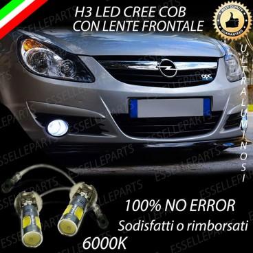 Luci Fendinebbia H3 LED OPEL CORSA D