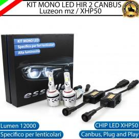 Kit Full LED HIR2 coppia lampade mono led 12000 Lumen