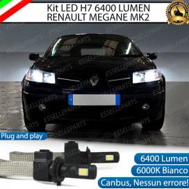 KitFull LED H7 6400 LUMEN Anabbaglianti RENAULT MEGANE II