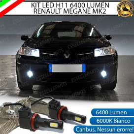 KitFull LEDFendinebbia H11 6400 LUMENRENAULTMEGANE II