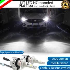 KitFull LED H7 Monoled 12000 LUMENFIAT TIPO CON FARO LENTICOLARE