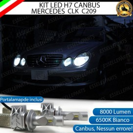 Kit Full LED H7 8000 LUMEN Anabbaglianti MERCEDES CLK C209