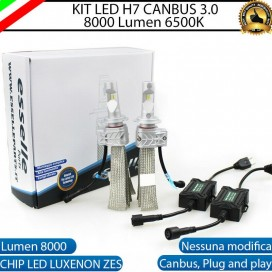 Kit Full LED H7 8000 LUMEN Anabbaglianti DACIA SANDERO II