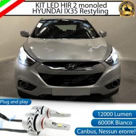 Kit Mono led HIR/HIR2 12000 LUMEN Anabbaglianti/Abbaglianti HYUNDAI IX35 RESTYLING