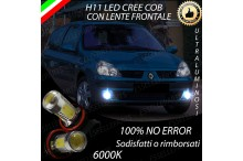Luci Fendinebbia H11 LED RENAULT CLIO II
