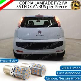Coppia Frecce Posteriori PY21W 35 LED Canbus FIAT PUNTO EVO