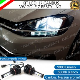 Kit Full LED H7 9800 LUMEN Anabbaglianti VOLKSWAGEN GOLF VII RESTYLING