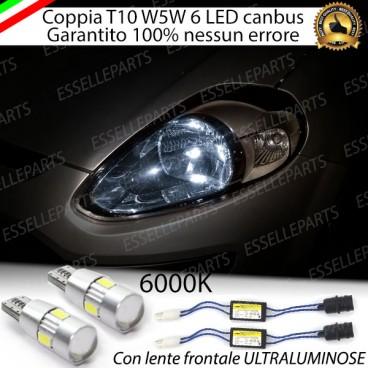 Luci posizione 6 LED Canbus Fiat Punto Evo