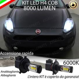 KitFull LED H4 Anabbaglianti/Abbaglianti 8000 LUMENFIATPUNTO EVO