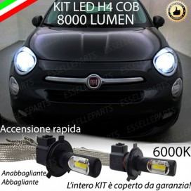 KitFull LED H4 Anabbaglianti/Abbaglianti 8000 LUMENFIAT500X