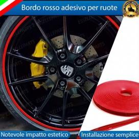 Bordo Rosso adesivo per ruote Opel Corsa (D)