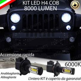 KitFull LED H4 Anabbaglianti/Abbaglianti 8000 LUMENJEEPWRANGLER III