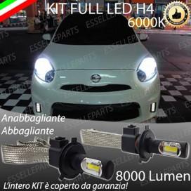 KitFull LED H4 Anabbaglianti/Abbaglianti 8000 LUMENNISSANMICRA IV