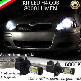 KitFull LED H4 Anabbaglianti/Abbaglianti 8000 LUMENTOYOTAYARIS I