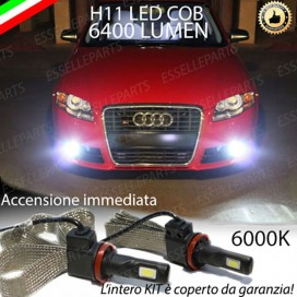 Kit Full LED Fendinebbia H11 6400 LUMEN AUDI A4 B7