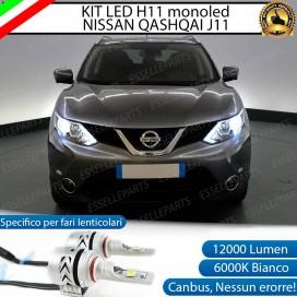Kit Mono led coppia H11 12000 LUMEN Nissan Qashqai j11