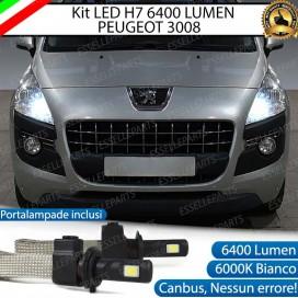 KitFull LED H7 6400 LUMEN AbbagliantiPEUGEOT3008