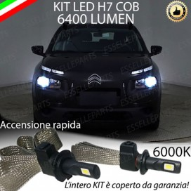 Kit Full LED H7 6400 LUMEN Anabbaglianti CITROEN C4 CACTUS