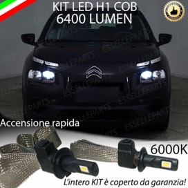 Kit Full LED H1 Abbaglianti 6400 LUMEN CITROEN C4 CACTUS