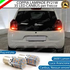 Coppia Frecce Posteriori PY21W 35 LED Canbus Peugeot 108