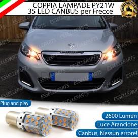 Coppia Frecce Anteriori PY21W 35 LED Canbus Peugeot 108