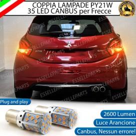 Coppia Frecce Posteriori PY21W 35 LED Canbus Peugeot 208