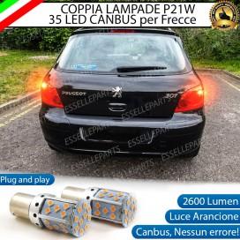 Coppia Frecce Posteriori P21W 35 LED Canbus Peugeot 307