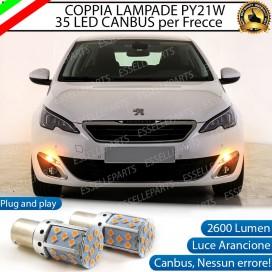 Coppia Frecce Anteriori PY21W 35 LED Canbus Peugeot 308 II fino al 2017