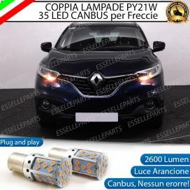 Coppia Frecce Anteriori PY21W 35 LED Canbus Renault Kadjar