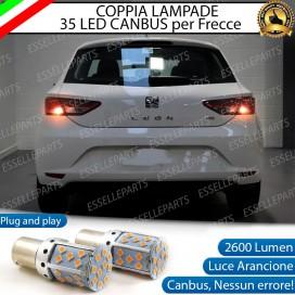 Coppia Frecce Posteriori PY21W 35 LED Canbus SEAT Leon 3 (5F)