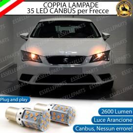 Coppia Frecce Anteriori PY21W 35 LED Canbus Seat Leon 3 (5F)