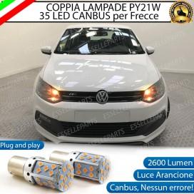 Coppia Frecce Anteriori PY21W 35 LED Canbus Volkswagen Polo (6R 6C1)