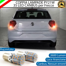 Coppia Frecce Posteriori PY21W 35 LED Canbus VOLKSWAGEN Polo (AW1)