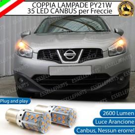 Coppia Frecce Anteriori PY21W 35 LED Canbus Nissan Qashqai I