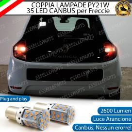 Coppia Frecce Posteriori PY21W 35 LED Canbus RENAULT Twingo 3