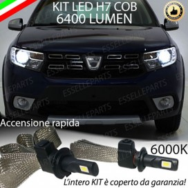 Kit Full LED H7 6400 LUMEN Anabbaglianti DACIA SANDERO II
