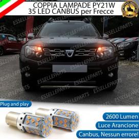 Coppia Frecce Anteriori PY21W 35 LED Canbus DACIA DUSTER