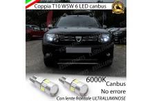 Dacia Duster luci di posizione led