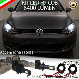 KitFull LED H7 6400 LUMEN AnabbagliantiVWGOLF VII + portalampade specifici