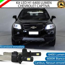 KitFull LED H1 Abbaglianti 6400 LUMENCHEVROLET CAPTIVA