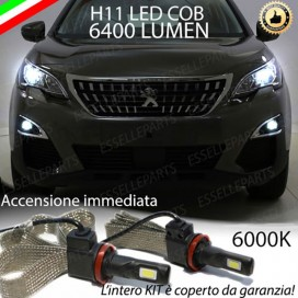Kit Full LED Fendinebbia H11 6400 LUMEN PEUGEOT 3008 II